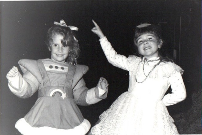 Me, as Rainbow Brite.  Yes, my mom MADE that!