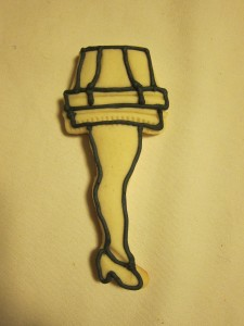Leg Lamp Outline