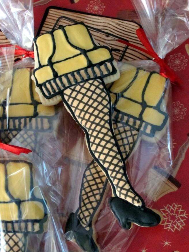 Leg Lamp Cookies