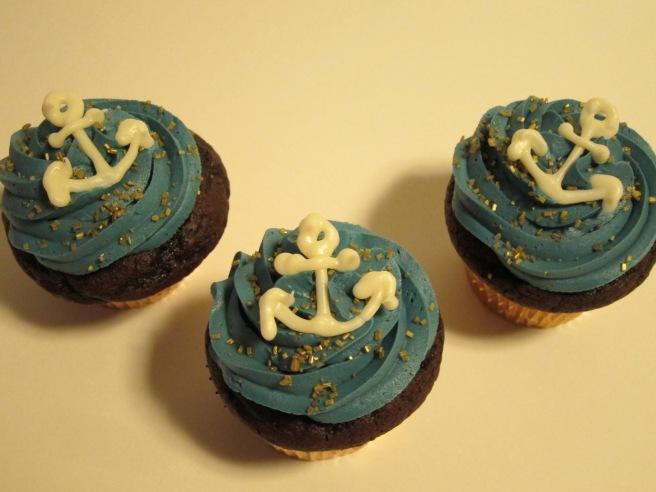 Navy Cupcakes 2