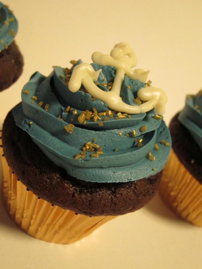 Navy Cupcakes 1