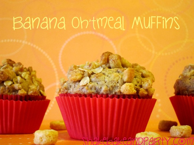 banana oh'tmeal muffins