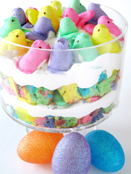 Rainbow Peeps Trifle | Shake Bake and Party