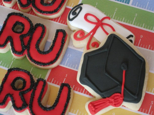 Graduation Cookies - Cap and Diploma
