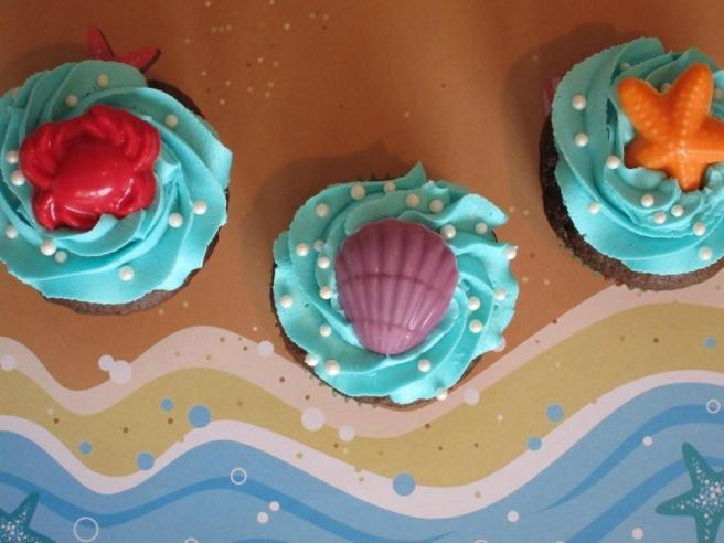 cupcakes for Little Mermaid party