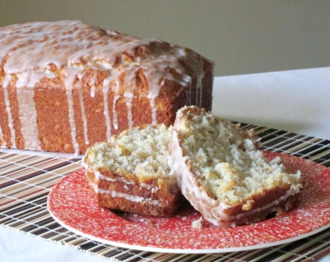 Coconut Banana Bread with Malibu Sundae Rum Glaze