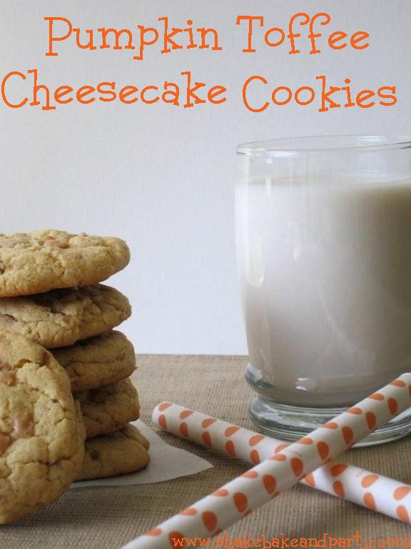 Pumpkin Toffee Cheesecake Cookies