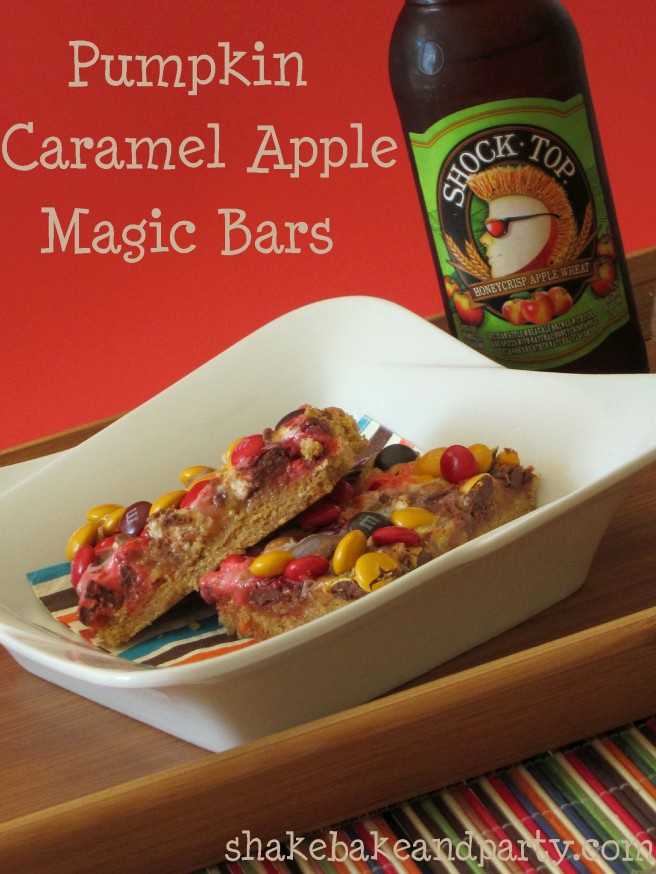 Pumpkin Caramel Apple Magic Bars | Shake Bake and Party