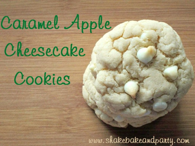 Caramel Apple Cheesecake Cookies
