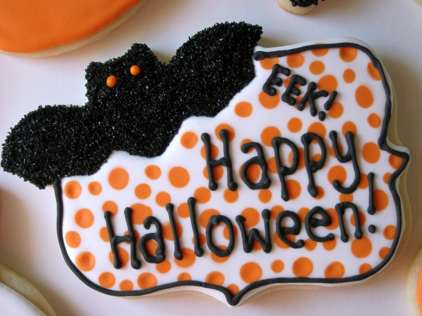 Happy Halloween Plaque Cookie