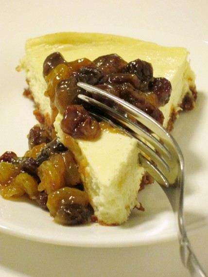 Goat Cheese Cheesecake with Rum Raisins | Shake Bake and Party