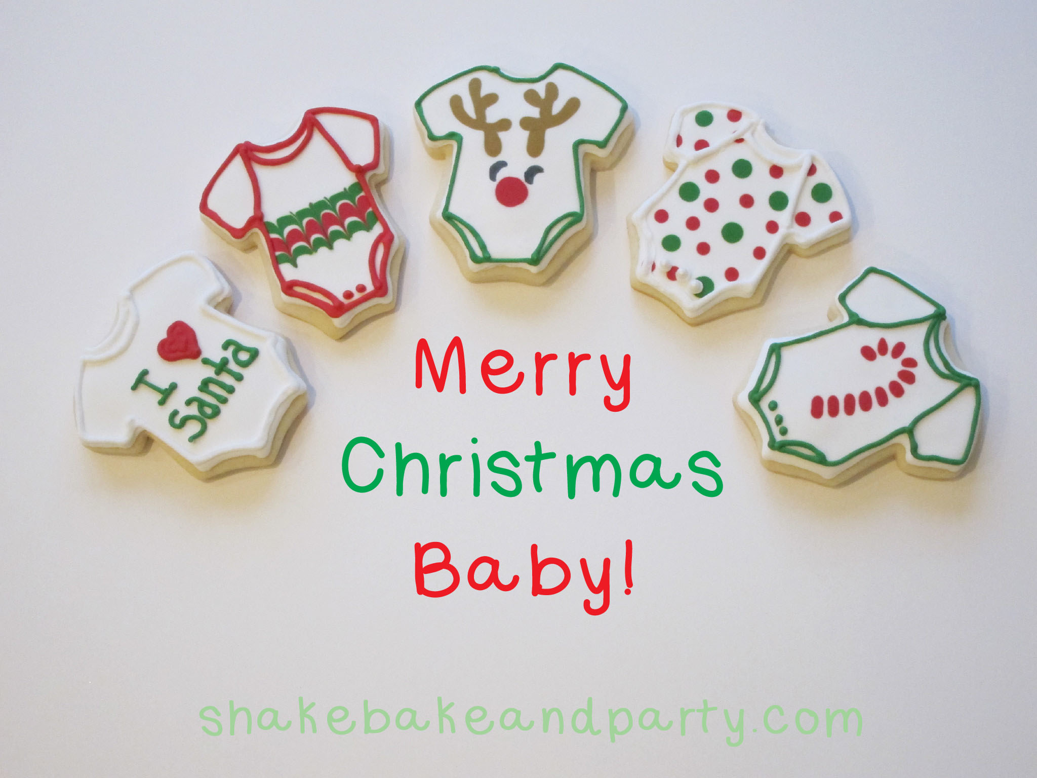 babys first christmas cookies shake bake and party - Merry Christmas Baby