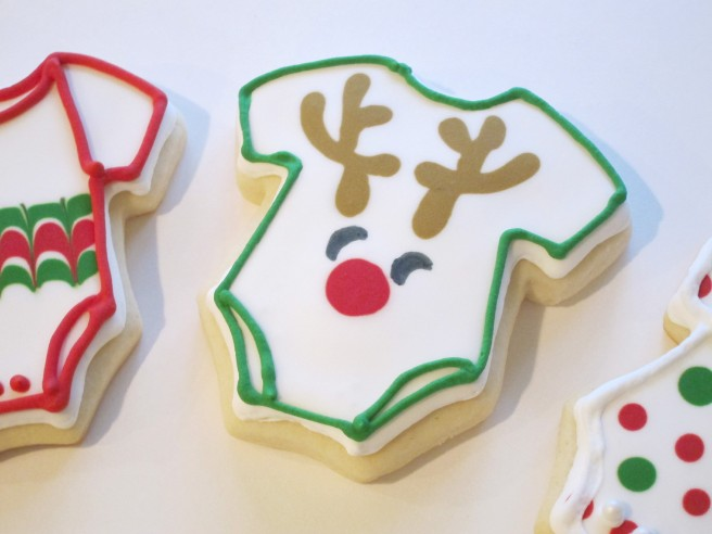 Rudolph Onesie Cookie | Shake Bake and Party