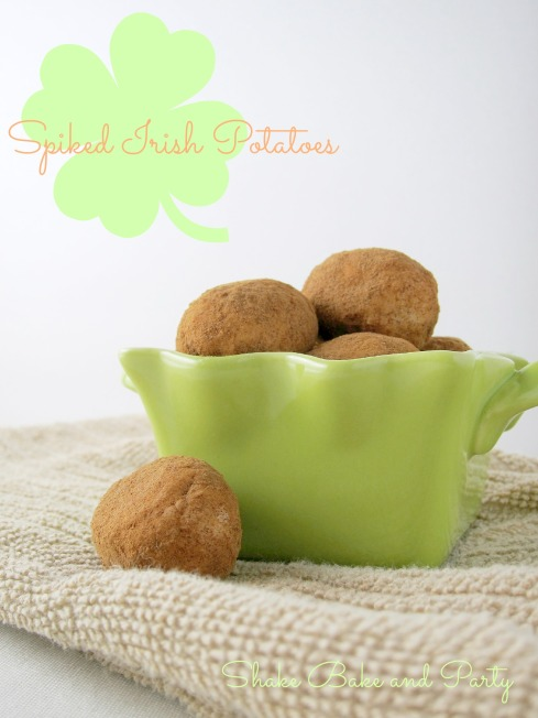 Spiked Irish Potatoes | Shake Bake and Party