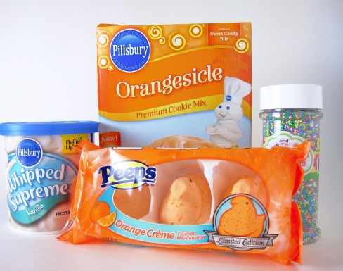 Orange Peepsicle Cookie Ingredients
