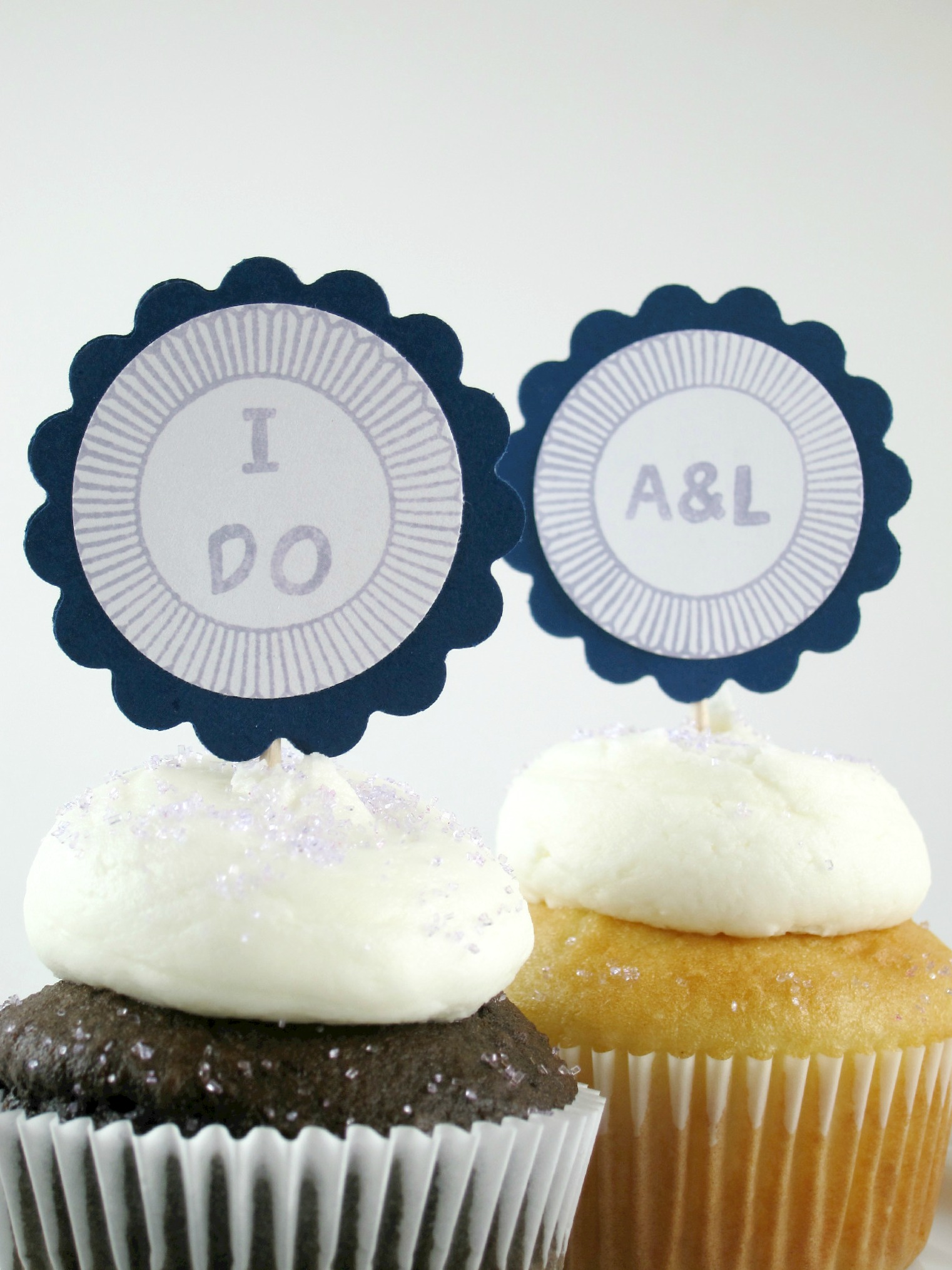 wedding cupcake toppers | Shake Bake and Party