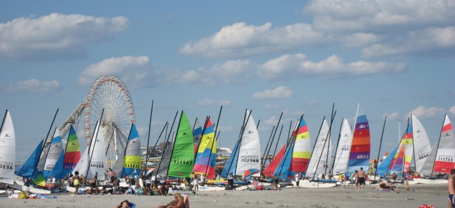 Sailboats at the beach