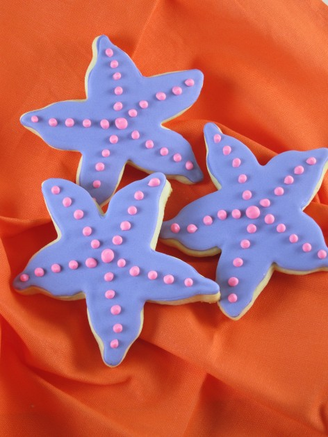 Purple and Pink Starfish Cookies | Shake Bake and Party