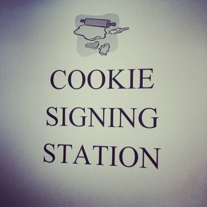 Cookie Signing Station