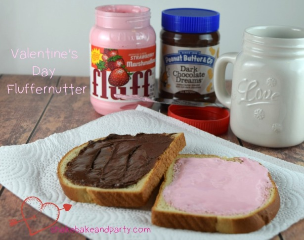 This strawberry and chocolate Fluffernutter is a fun and easy treat to make with the kids for Valentine's Day!