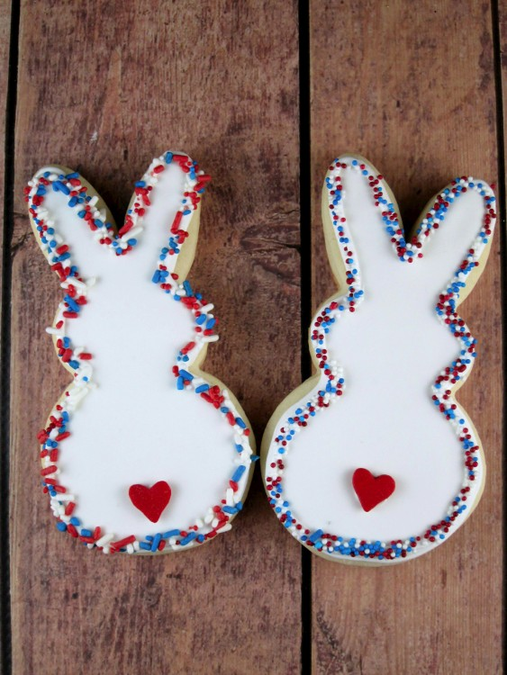 Patriotic Easter Bunny Cookies
