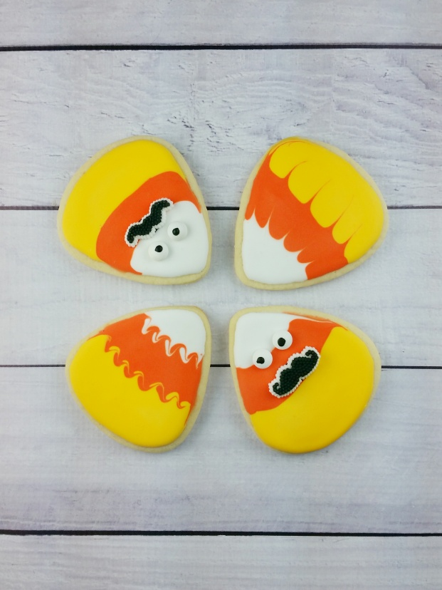 Candy Corn Sugar Cookies for #Halloween