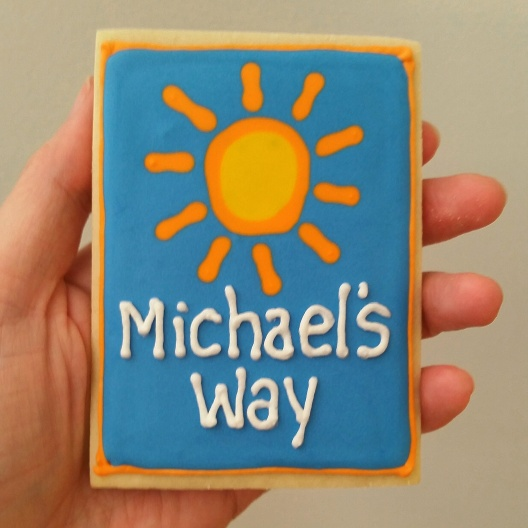 Michael's Way Logo Cookies #charity #decoratedcookies