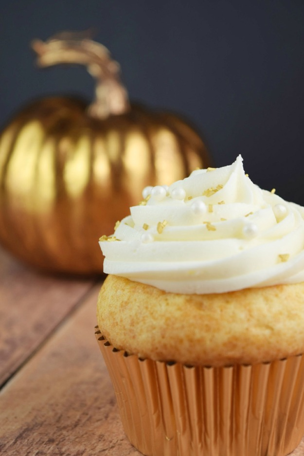 Caramel Apple Cider Cupcakes with RumChata Frosting