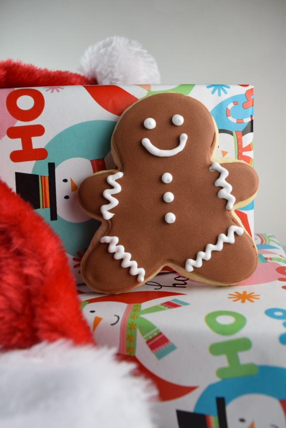 Gingerbread Man Decorated Cookie