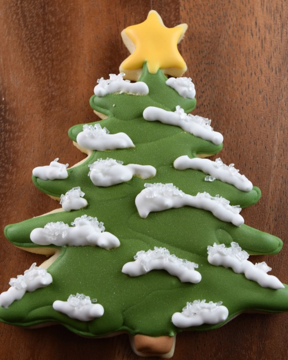 Christmas Tree Decorated Cookie