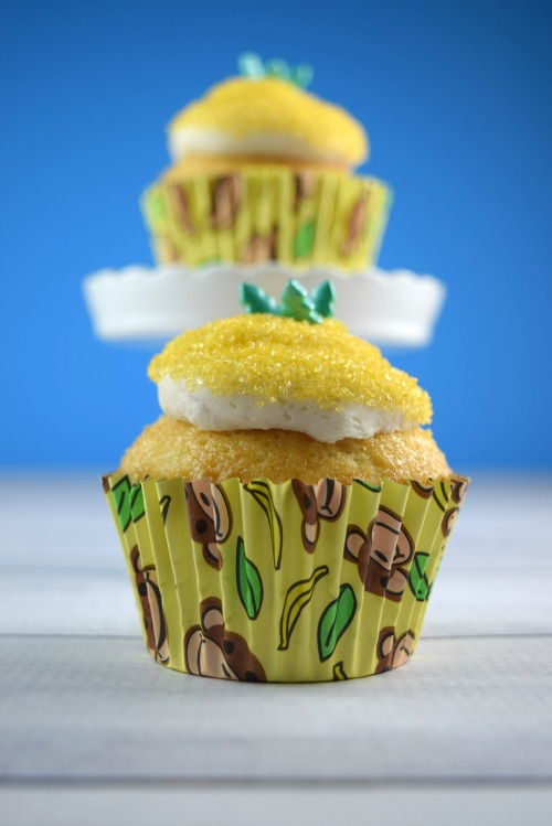 Outside In Pineapple Upside Down Cupcakes | Shake Bake and Party